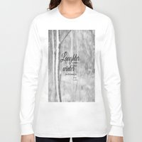 les miserables Long Sleeve T-shirts featuring Les Miserables Quote Winter by KimberosePhotography