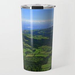Green coastal landscape Travel Mug