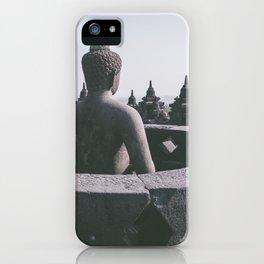 Meditating Buddha, Indonesia iPhone Case
