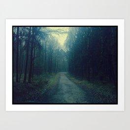 Blue Path Art Print