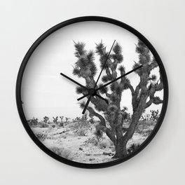 joshua tree bw Wall Clock