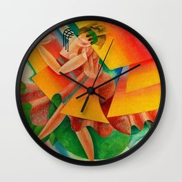 Dancer, Milan, Italy by Gino Severini Wall Clock
