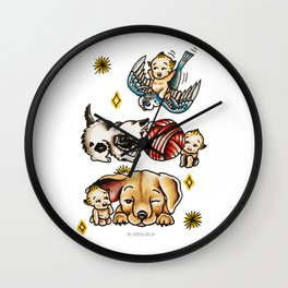 Kewpies & Baby Animals Flash  Wall Clock