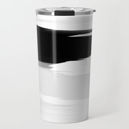 Soft Determination Black & White Travel Mug