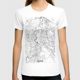 Rome City Map Gray T-shirt