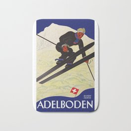 Vintage Adelboden Switzerland - Ski Jump Bath Mat