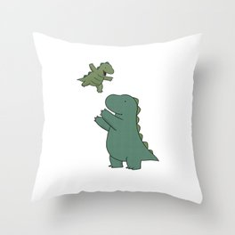 Rory & Dad Throw Pillow