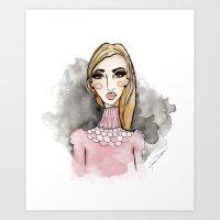 daria Art Prints featuring Daria by Jessica Twilbeck