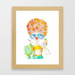 pink lemonade -- sweet, but tart. Framed Art Print