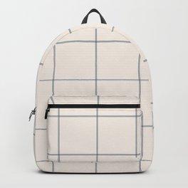 windowpane plaid Backpack