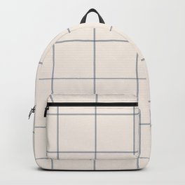 windowpane plaid Backpack
