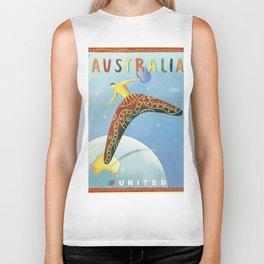 Australian Vintage Travel Poster Biker Tank