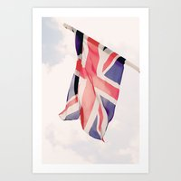 british flag Art Prints featuring British Flag by Rachael Jane