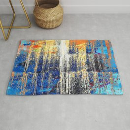 Golden Dawn, Abstract Landscape Art Rug