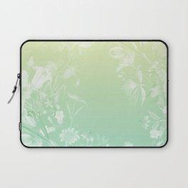 Stardust Lemon Mint Floral Motif Laptop Sleeve