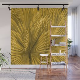 Palm Leaves: Golden Hues Wall Mural
