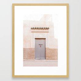 Marrakech Medina Door Framed Art Print