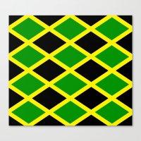 jamaica Canvas Prints featuring Jamaica Jamaica Jamaica by cleopetradesign.com
