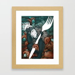 Plastic Pollution in the Ocean Framed Art Print