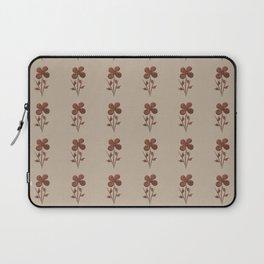 Cute Copper Flower Linen Canvas Laptop Sleeve