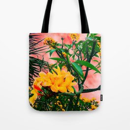 Plumeria in Storm Tote Bag