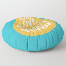 Peace, Love & Chicken Nuggets Floor Pillow