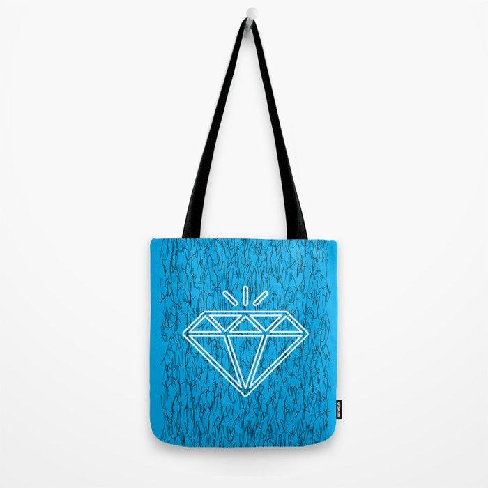 diamond cyan Tote Bag