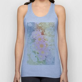 Pink Sorbet Chamomile Flowers Unisex Tank Top