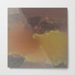 Brownish Cloud Pattern Metal Print
