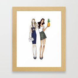 Best Friends Illustration Framed Art Print