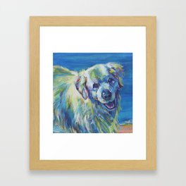 A Golden Retriever Framed Art Print