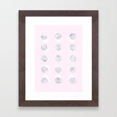 Marble lot pink Framed Art Print