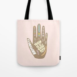 Positive Vibes Hand Tote Bag