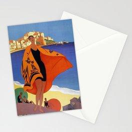 Vintage poster - La Plage de Calvi, La Corse, France Stationery Cards