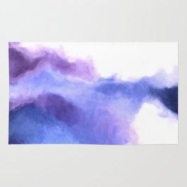 Purple Sky, White Light - abstract Rug