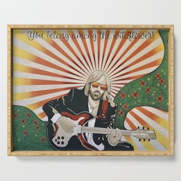 Wildflowers (Tom Petty Tribute Mural, Gainesville) Serving Tray