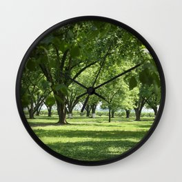 Peach and Pecan Orchard Wall Clock