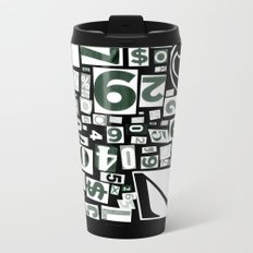 Numbers by Friztin Metal Travel Mug