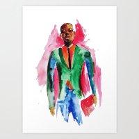 the dude Art Prints featuring Dude by Anastasiya  Tcapko