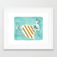 tiffany Framed Art Prints featuring Tiffany by Shaina Anderson