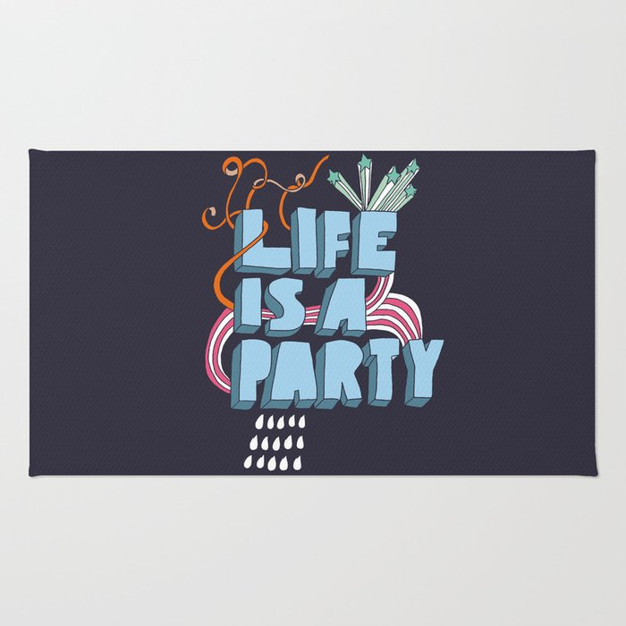 Life is a party Rug