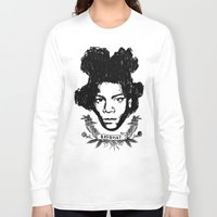 basquiat Long Sleeve T-shirts featuring Basquiat by CLSNYC