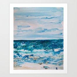 Cabo Beach Mexico Watercolor #1 Art Print