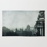 london Area & Throw Rugs featuring London by Ingrid Beddoes