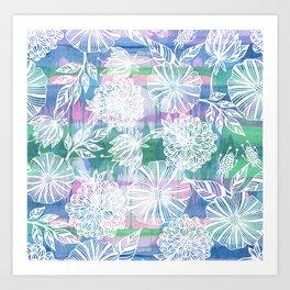Garden in white Art Print