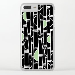 Bamboogie Pattern Clear iPhone Case