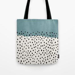 Rain, Abstract, Mid century modern kids wall art, Nursery room Tote Bag