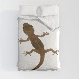 Mediterranean House Gecko Vector Comforters