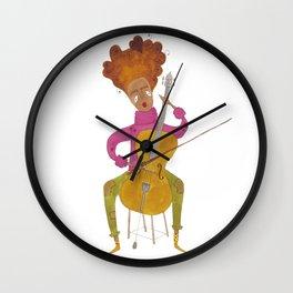 A Tender Cellist Wall Clock