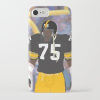 steelers iPhone & iPod Cases featuring Steelers - Joe Greene - 1978 (Vector Art) by Troy Arthur Graphics